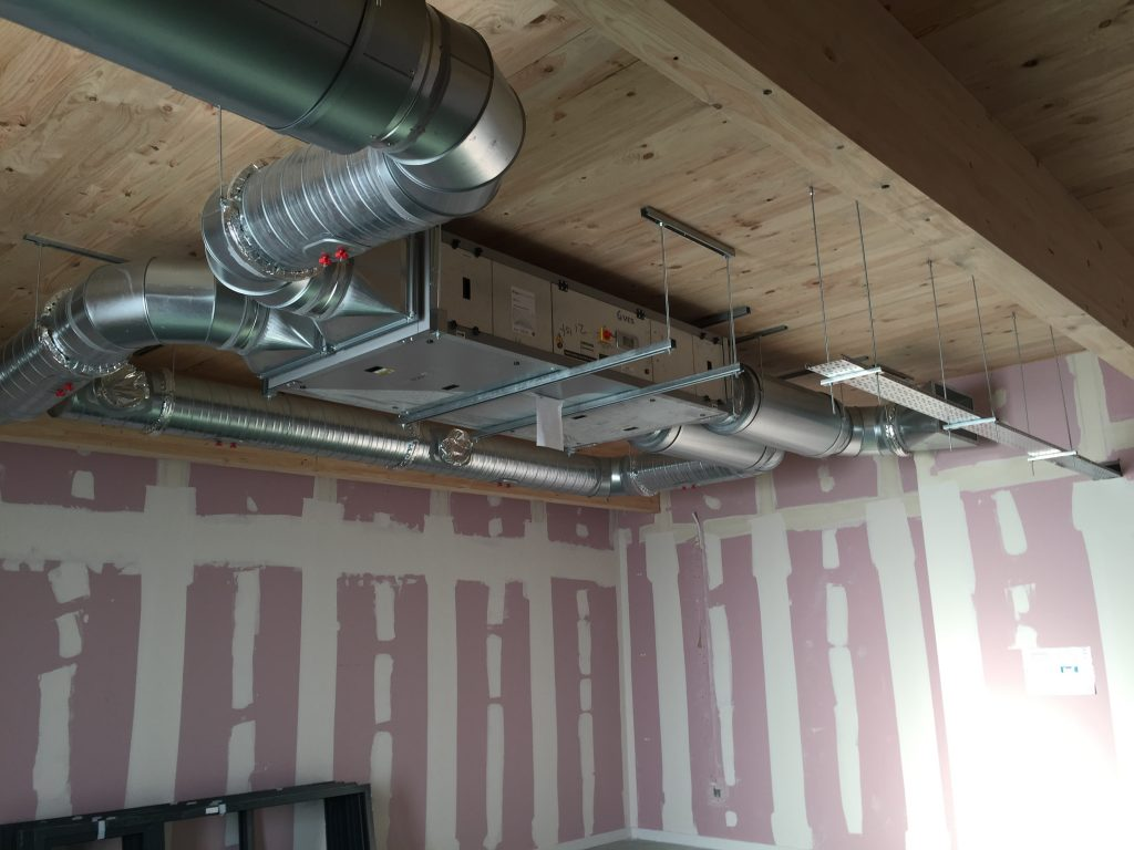 Installation of building services at Wellington School