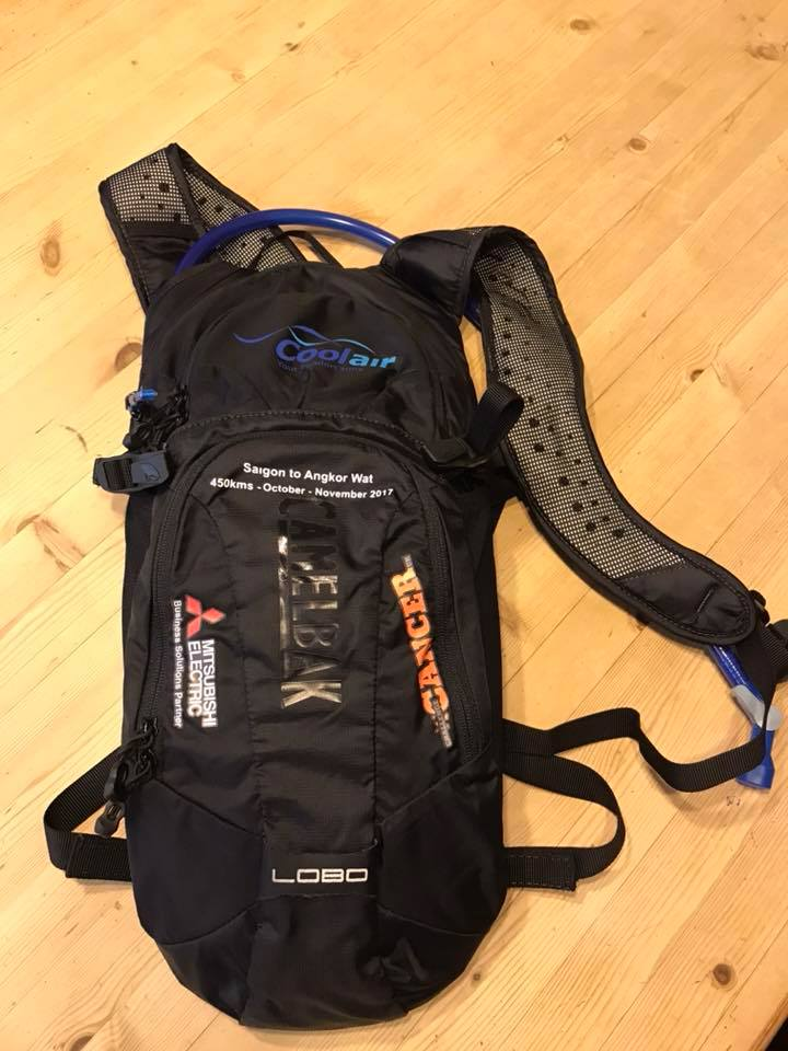 Camelbak backpack from Coolair and Mitsubishi
