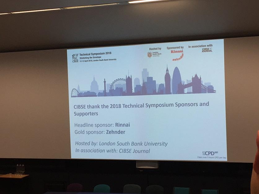 The annual CIBSE Technical Symposium presentation